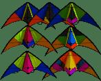 Rhombus Sport Kite 120x50cm Assorti