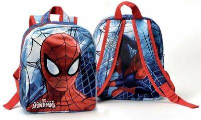 Spiderman - Rugzak - 27 cm hoog - blauw/rood